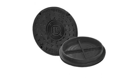 Канализационный люк колодца вн. 695/600 пластиковый черный