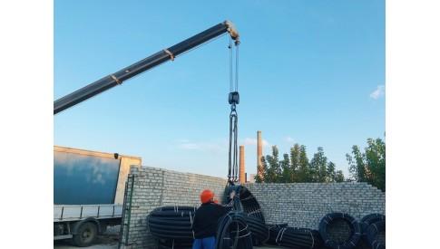 Отгрузка трубы ПНД клиентам во Владикавказ и Махачкалу