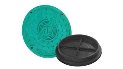 Люк колодца вн. диаметр 368/315 зеленый