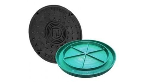 Люк колодца вн./нар. диаметр 575/500 зеленый